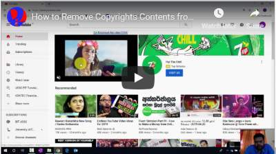 How to Remove Copyrights Contents from YouTube Video Without Deleting Original Upload