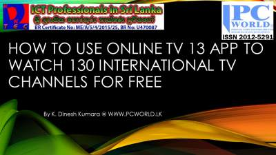 Free Online TV 13 App to Watch 130 TV programs from 14 different countries