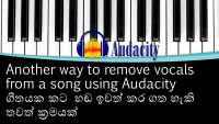 Another way to remove vocals from a song using Audacity