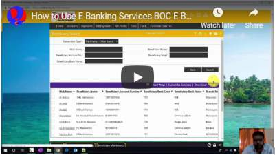 How to Use E Banking Services BOC E Banking other Bank Money Transfer Tutorial
