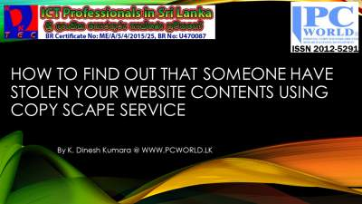 How to find out that someone have stolen your website contents using Copy Scape service