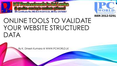 Online Tools to validate your website Structured data