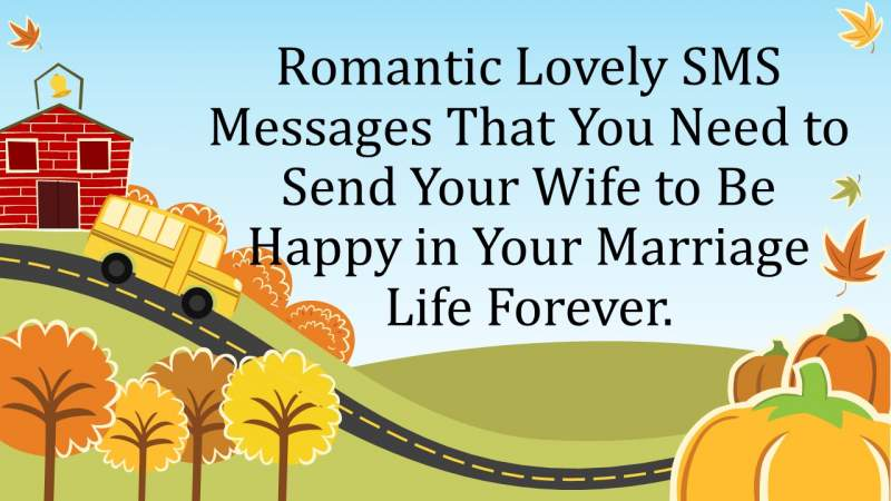 Romantic Lovely SMS Messages That You Need to Send Your Wife to Be Happy in Your Marriage Life Forever