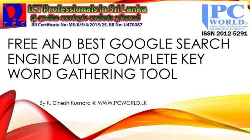 Free & Best Google Search Engine Auto Complete Key word Gathering Tool