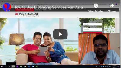 How to Use E Banking Services Pan Asia Bank E Banking Credit Card Payments Tutorial